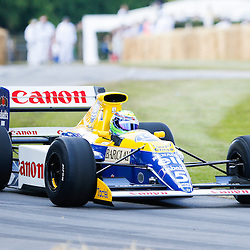 Felipe Massa driving a Williams-Renault FW13B up the hill at the Goodwood Festival of Speed, June the 27th. © Sam Todd | SportPix.org.uk