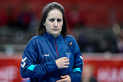 08-12-2019 JAP: Netherlands - Germany, Kumamoto<br /> First match Main Round Group1 at 24th IHF Women's Handball World Championship, Netherlands lost the first match against Germany with 23-25. / Referees Charlotte or Julie Bonaventura