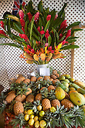 Fruit and flowers, Moorea, French Polynesia