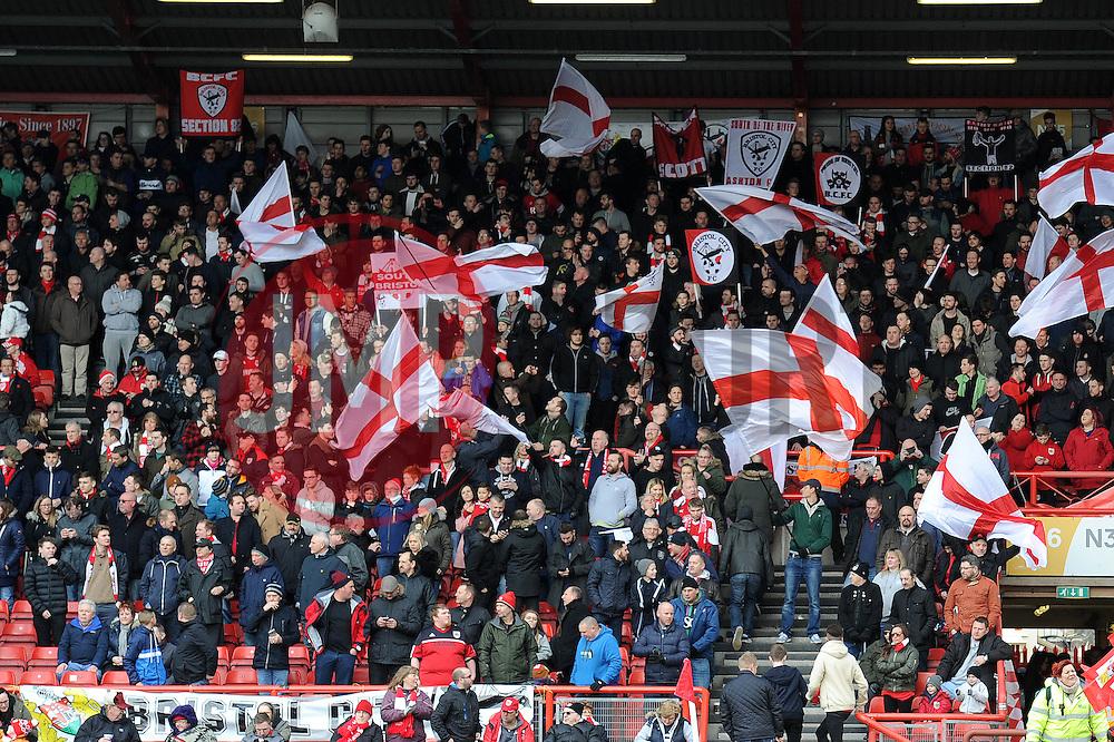 Bristol City fans - Mandatory byline: Dougie Allward/JMP - 05/03/2016 - FOOTBALL - Ashton Gate - Bristol, England - Bristol City v Cardiff City - Sky Bet Championship