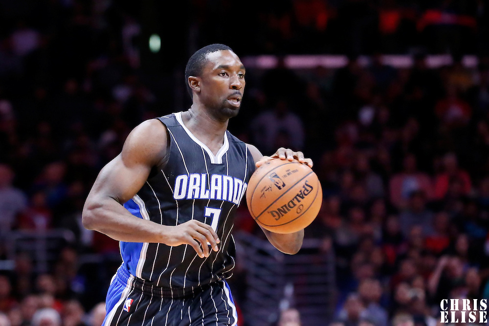 03 December 2014: Orlando Magic guard Ben Gordon (7) brings the ball up court during the Los Angeles Clippers 114-86 victory over the Orlando Magic, at the Staples Center, Los Angeles, California, USA.