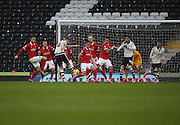 Fulham midfielder, Tom Cairney (10) scoring opening goal during the Sky Bet Championship match between Fulham and Charlton Athletic at Craven Cottage, London, England on 20 February 2016. Photo by Matthew Redman.