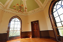 © Licensed to London News Pictures. 14/04/2014. Inside the newly restored castle. A 18th century castle on a hill in south east London is preparing to reopen as its restoration nears completion. Severndroog Castle in Oxleas Woods on Shooters Hill enjoys stunning views across five counties. The folly has been closed for many years and was in state of disrepair before work started on a restoration project last year. The historic building featured in the BBC series Restoration in 2004. Reopening date yet to be confirmed, more information available fron the Severndroog Castle Building Presevation Trust . Credit : Rob Powell/LNP