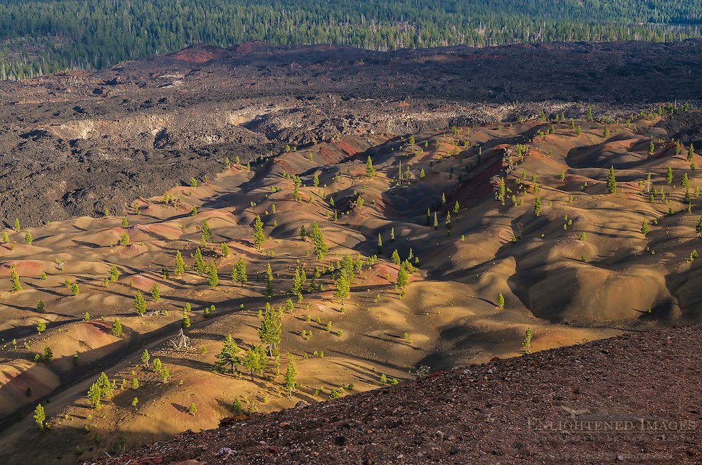The Painted Dunes and Fantastic Lava Beds, Lassen Volcanic National Park, California