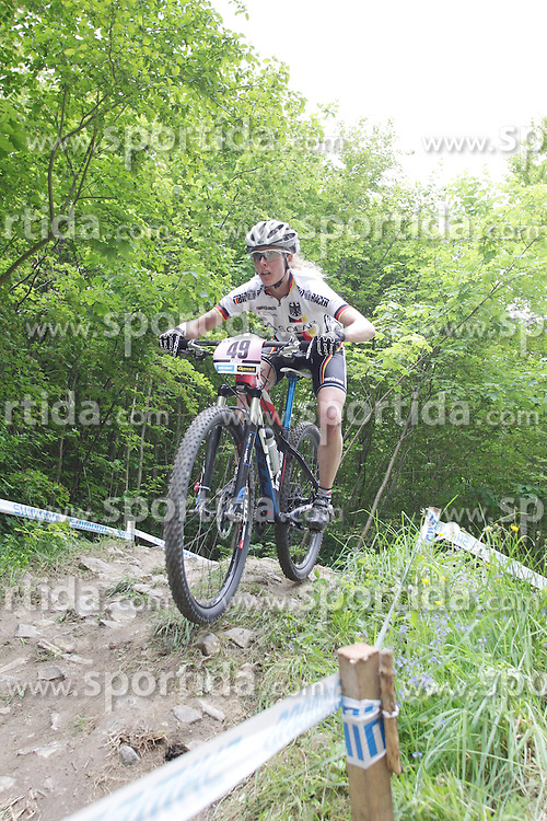 01.06.2014, Bullentaele, Albstadt, GER, UCI Mountain Bike World Cup, Cross Country Damen, im Bild Nina Wrobel Deutschland // during Womens Cross Country Race of UCI Mountainbike Worldcup at the Bullentaele in Albstadt, Germany on 2014/06/01. EXPA Pictures © 2014, PhotoCredit: EXPA/ Eibner-Pressefoto/ Langer<br /> <br /> *****ATTENTION - OUT of GER*****