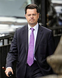 © Licensed to London News Pictures. 20/06/2019. London, UK. Secretary of State for Housing, Communities and Local Government JAMES BROKENSHIRE is seen at the Houses of Parliament in London . Further candidates are expected to drop out of the race to be the next Prime Minister over the next two days, leaving two, in a series of votes held by Conservative MPs at Parliament. Photo credit: Ben Cawthra/LNP