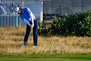 Brandon Wu (USA) plays from the rough on the second hole during the Sunday Foursomes in the Walker Cup at the Royal Liverpool Golf Club, Sunday, Sept 8, 2019, in Hoylake, United Kingdom. (Steve Flynn/Image of Sport)