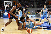 20181202/ Nicolas Celaya - adhocFOTOS/ URUGUAY/ MONTEVIDEO/ ANTEL ARENA/ Uruguay vs Estados Unidos por la clasificaci&oacute;n al Campeonato Mundial de Baloncesto China 2019 de la FIBA,en el Antel Arena, Montevideo.<br /> En la foto: Uruguay vs Estados Unidos por la clasificaci&oacute;n al Campeonato Mundial de Baloncesto China 2019 de la FIBA,en el Antel Arena, Montevideo. Foto: Nicol&aacute;s Celaya /adhocFOTOS