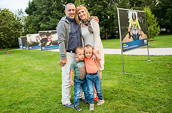 Damijan Lazar with his family at Opening of photo exhibition of Slovenian Paralympic Athletes before Rio 2016, on July 14, 2016 in Arboretum Volcji potok, Slovenia. Photo by Vid Ponikvar / Sportida