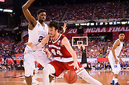 06 APR 2015:  Forward Frank Kaminsky (44) of the University of Wisconsin battles Forward Amile Jefferson (21) of Duke University during the championship game at the 2015 NCAA Men's DI Basketball Final Four in Indianapolis, IN. Duke defeated Wisconsin 68-63 to win the national title. Brett Wilhelm/NCAA Photos