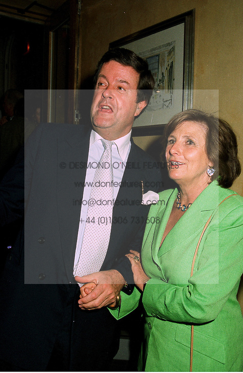 LORD CHARLES SPENCER-CHURCHILL and LADY AMABEL LINDSAY at a party in London on 9th June 1997.LZC 29
