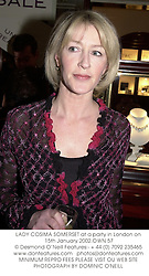 LADY COSIMA SOMERSET at a party in London on 15th January 2002.	OWN 57