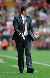 Bristol City manager, Steve Cotterill - Photo mandatory by-line: Dougie Allward/JMP - Mobile: 07966 386802 - 27/09/2014 - SPORT - Football - Bristol - Ashton Gate - Bristol City v MK Dons - Sky Bet League One