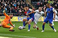 Football - 2018 / 2019 Sky Bet EFL Championship - Swansea City vs. Ipswich Town<br /> <br /> Oliver McBurnie Swansea City is foiled by Dean Gerken of Ipswich Town, at The Liberty Stadium.<br /> <br /> COLORSPORT/WINSTON BYNORTH