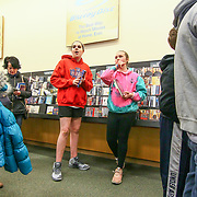 Kaleigh Barry (12) and Paige West (10) wait in line at Elena Delle Donne signing Saturday, March 10, 2018, at Barnes and Noble in Wilmington Delaware.
