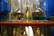 Jindrichuv Hradec/Tschechische Republik, Tschechien, CZE, 31.08.2007: Das Unternehmen Hill&acute;s Liquere S.R.O. wurde 1920 von Albin Hill  gegr&uuml;ndet. Die Tradition wurde 1947 von Radomil Hill weitergef&uuml;hrt - heute wird das Unternehmen von seiner Tochter Ilona Musialova geleitet. Hill&acute;s Absinth wird in der s&uuml;db&ouml;hmischen Stadt  Jindrichuv Hradec produziert. Abf&uuml;llanlage f&uuml;r Absinth.<br /> <br /> Albin Hill established Hill's Liguere in 1920. He started out as a wine wholesaler and soon after he began producing his own liquor and liqueurs. In 1947 his son Radomil Hill continues this tradition and today his daughter Ilona Musialova is leading the company.