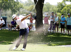 May 26, 2018 - Fort Worth, TX, USA - Jon Rahm drives the ball in the middle of the 17th fairway during the Fort Worth Invitational Golf Tournament at Colonial Country Club Saturday May 26, 2018 in Fort Worth, Texas. (Credit Image: © Bob Booth/TNS via ZUMA Wire)