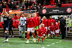 Mascots walk out with the Bristol City players - Rogan/JMP - 10/12/2019 - Ashton Gate Stadium - Bristol, England - Bristol City v Milwall FC - Sky Bet Championship.