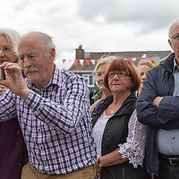 """Locals watching the Offical Opening of """"The Castle', Antique, Arts & Craft Centre in Clarecastle"""