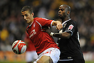 Nottingham - Saturday November 22nd, 2008: Chris Cohen of Nottingham Forest and Leroy Lita of Norwich City during the Coca Cola Championship match at The City Ground, Nottingham. (Pic by Alex Broadway/Focus Images)