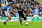 Caleb Ekuban (45) of Leeds United looks to shoot at goal during the EFL Sky Bet Championship match between Reading and Leeds United at the Madejski Stadium, Reading, England on 10 March 2018. Picture by Graham Hunt.