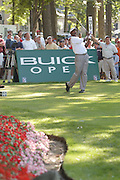 Jul 31, 2005; Grand Blanc, MI, USA; Vijay Singh his tee shot on number seventeen on his way to successfully defending his title at the 2005 Buick Open at the Warwick Hills Golf and Country Club. Copyright © 2005 Kevin Johnston