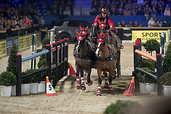 Voutaz Jerome, SUI, Belle du Peupe, Eva III, Folie des Moulins, Leny<br /> Longines FEI World Cup presented by Land Rover<br /> Vlaanderens Kerstjumping Memorial Eric Wauters<br /> © Dirk Caremans<br /> 30/12/16