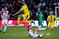 James Coppinger of Doncaster Rovers tackles Andros Townsend of Crystal Palace - Mandatory by-line: Robbie Stephenson/JMP - 17/02/2019 - FOOTBALL - The Keepmoat Stadium - Doncaster, England - Doncaster Rovers v Crystal Palace - Emirates FA Cup fifth round proper