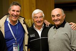 Peter Frei (SUI), Dumeng Giovanoli (SUI) and Eberhard Riedel (GER) at meeting of former Alpine Ski racers named as Vitranc Legends - Winners of Vitranc Cup  at FIS Ski World Cup Alpine Kranjska Gora, on March 5, 2011 in Kranjska Gora, Slovenia.  (Photo By Vid Ponikvar / Sportida.com)