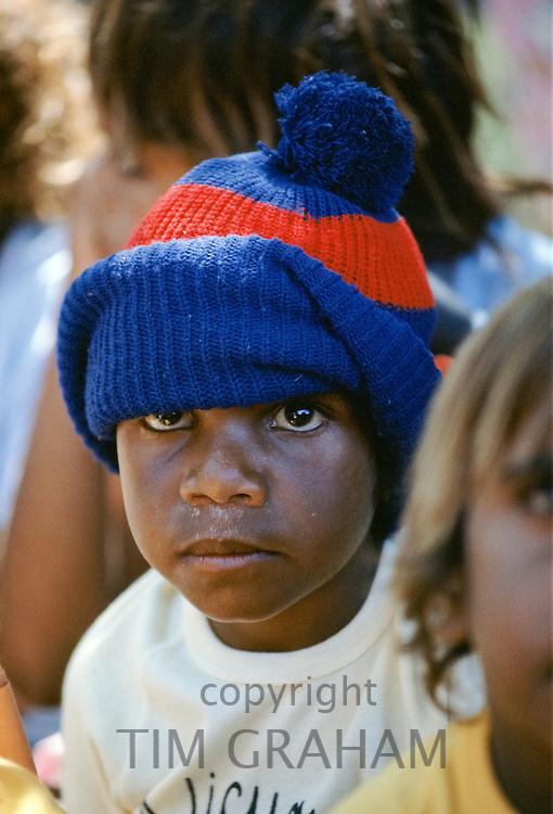 Aboriginal children at Alice Springs, Australia