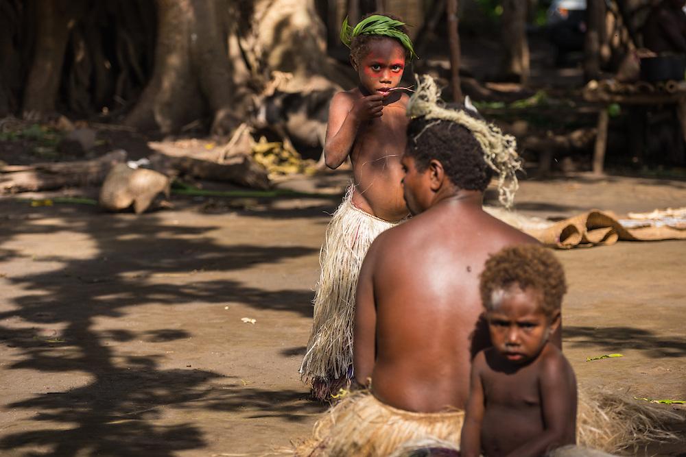 People selling souvenirs, Tannah, Vanuatu.