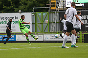 Forest Green Rovers Darren Carter (12) takes a shot during the Vanarama National League match between Forest Green Rovers and Bromley FC at the New Lawn, Forest Green, United Kingdom on 17 September 2016. Photo by Shane Healey.