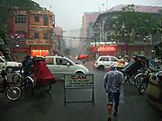 Vietnam, Ho Chi Min City: rainstorm.