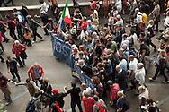 """""""Costituzione, la via maestra"""". Manifestazione in difesa della Costituzione italiana. Roma, 12 ottobre 2013."""