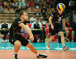 07.09.2014, Spodek, Katowice, POL, FIVB WM, Deutschland vs Süd Korea, Gruppe B, im Bild Denys Kaliberda // during the FIVB Volleyball Men's World Championships Pool B Match beween Germany and South Korea at the Spodek in Katowice, Poland on 2014/09/07. <br /> <br /> ***NETHERLANDS ONLY***