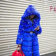 Blue Belted Coat, Outside Nicholas K FW2017