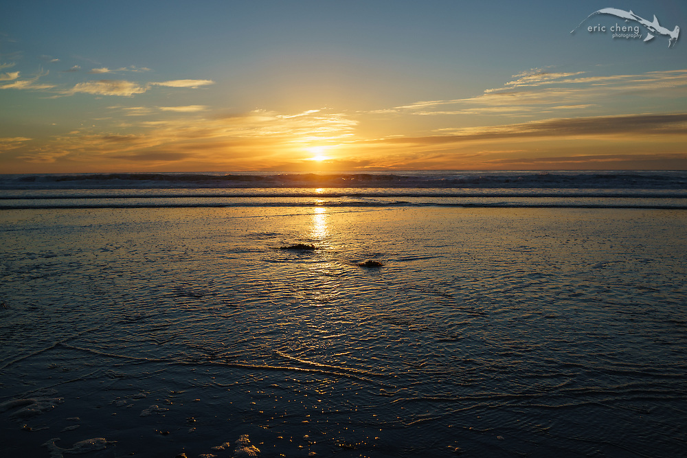 Sunset at Solana Beach, San Diego, California