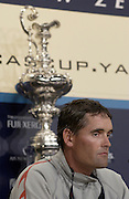 Alinghi skipper Russell Coutts at the press conference after Alinghi win the America's Cup. 2/3/2003 (© Chris Cameron 2003)
