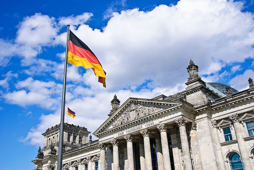 the Reichstag, the German Parliament building in Berlin