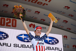 Stage winner, Ruth Winder (USA) at Stage 3 of 2020 Santos Women's Tour Down Under, a 109.1 km road race from Nairne to Stirling, Australia on January 18, 2020. Photo by Sean Robinson/velofocus.com