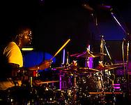 Title:De'Mar Hamilton, drummer of the Plain White T's, in concert in Yokosuka Japan