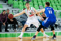 Roko Badzim of Petrol Olimpija during basketball match between KK Petrol Olimpija and KK Rogaska in Round #5 of Liga Nova KBM za prvaka 2018/19, on March 31, 2019, in Arena Stozice, Ljubljana, Slovenia. Photo by Vid Ponikvar / Sportida