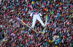 01.01.2018, Olympiaschanze, Garmisch Partenkirchen, GER, FIS Weltcup Ski Sprung, Vierschanzentournee, Garmisch Partenkirchen, Wertungsdurchgang, im Bild Peter Prevc (SLO) // Peter Prevc of Slovenia during the Competition Jump for the Four Hills Tournament of FIS Ski Jumping World Cup at the Olympiaschanze in Garmisch Partenkirchen, Germany on 2018/01/01. EXPA Pictures © 2018, PhotoCredit: EXPA/ JFK
