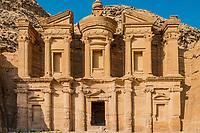 The Monastery Al Deir in Nabatean Petra Jordan middle east