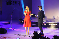 LONDON - NOVEMBER 06: US Singer Taylor Swift switched on the Christmas Lights at Westfield London with a live performance of songs from her latest album 'Red'. November 06, 2012. (Photo by Richard Goldschmidt)