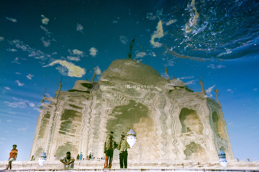 Reflection of the Taj Mahal, Agra, India.