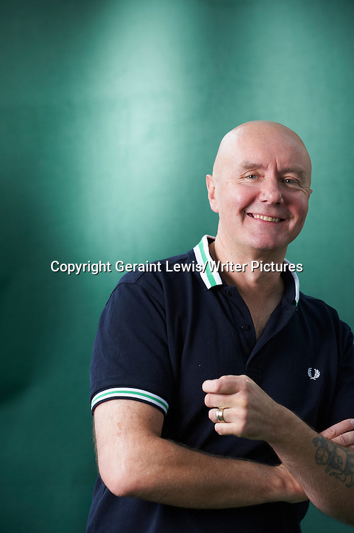 Irvine Welsh, Scottish writer of the book Trainspotting at The Edinburgh International Book Festival 2011<br /> <br /> Copyright Geraint Lewis/Writer Pictures