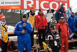 Coaches at Flying Hill Individual in 2nd day of 32nd World Cup Competition of FIS World Cup Ski Jumping Final in Planica, Slovenia, on March 20, 2009. (Photo by Vid Ponikvar / Sportida)