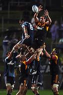 Chiefs Craig Clarke during a lineout. Investec Super Rugby - Chiefs v Blues, Waikato Stadium, Hamilton, New Zealand. Saturday 26 March 2011. Photo: Andrew Cornaga / photosport.co.nz
