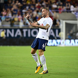 Toby Alderweireld of Spurs puts his side 3-2 ahead during the International Champions Cup match between Paris Saint Germain and Tottenham Hotspur on July 22, 2017 in Orlando, United States. (Photo by Dave Winter/Icon Sport)